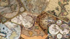 Instant Download  Digital Collage  Vintage Maps  by PhotoAlmanac