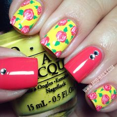 ModNails: ROSE NAIL ART USING COLORS FROM THE BRAZIL BY OPI ...