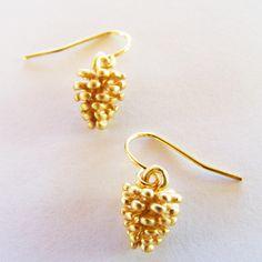 Wildwood: Matte gold-tone pine cone earrings from eleanorhalljewellery.com Great stocking filler! Stocking Fillers, Pine Cone, Matte Gold, Drop Earrings, Jewelry, Fashion, Moda, Jewlery, Pinecone