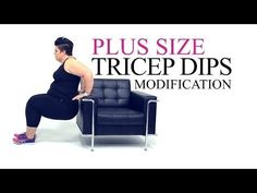 Plus size tricep modification from Coach Tulin YouTube