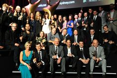 Winners on stage at the 2nd AACTA Awards Luncheon, presented by Deluxe. 28/01/13