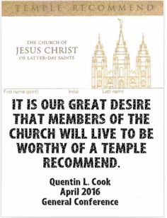 """April 2016, """"See Yourself in the Temple"""" https://www.lds.org/general-conference/2016/04/see-yourself-in-the-temple?lang=eng"""