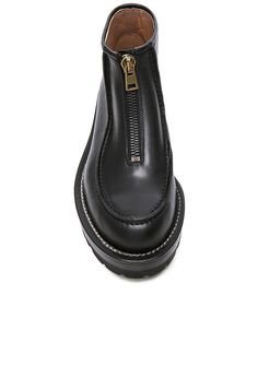 Marni Zip Ankle Boots in Coal