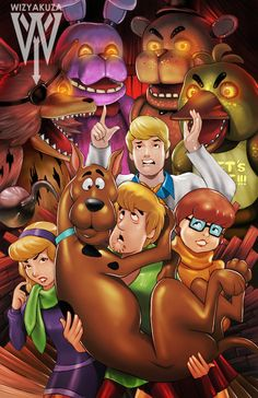 Five Nights at Freddy's vs. Scooby Doo  Crossover  11 by Wizyakuza