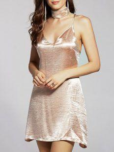Satin Dress from Zaful - Tina Chic
