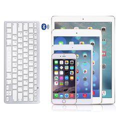 OMOTON Ultra-Slim Bluetooth Keyboard Compatible with 2018 iPad Pro New iPad Inch, iPad Air, iPad Mini, iPhone and Other Bluetooth Enabled New Ipad Pro, Ipad Pro 12 9, Ipad 4, Ipad Mini, Mini Keyboard, Bluetooth Keyboard, Accessoires Ipad, Ipad Accessories, Apple Ipad