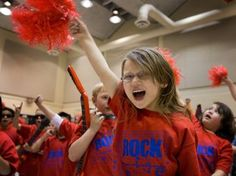 Test pep rallies being held in the USA to try and fire kids up about state testing... Just think of what other amazing things classes could be doing with that precious learning time, state legislators...