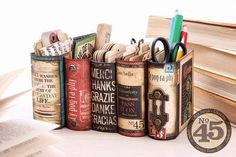ebookfriendly:  Desk organizer from Graphic 45 / lovely!...