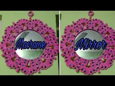How to make macrame heart 💓 shape design mirror wall hanging. Macrame Mirror, Macrame Art, Diy Mirror, Macrame Toran, Rose Wall, Shape Design, Craft Work, Heart Shapes, Arts And Crafts