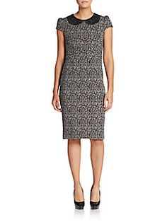 Betsey Johnson - Embroidered-Collar Printed Dress