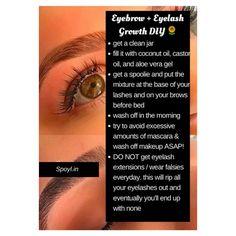Eyebrows & Eyelash growth DIY!