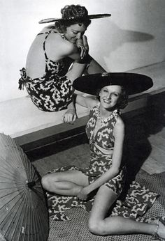 1935 – Bathing Suits and Shade Hats by Jacques Heim – Photo by Horst P. Horst (German-American, 1906-1999)
