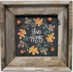 Guirnalda hojas de otoño dar gracias signo por barbsheartstrokes