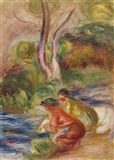 Pierre-Auguste Renoir - LES LAVEUSES, Oil on canvas on MutualArt.com