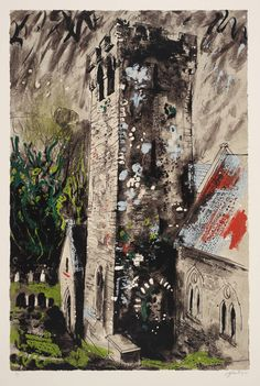 Artist John Piper Title Castlemartin Date 1976 MediumScreenprint on paper Dimensionsimage: 924 x 613 mm Collection Tate Acquisition Presented by Rose and Chris Prater 1976 John Piper Artist, Coventry Cathedral, Art Alevel, Building Art, Sense Of Place, Landscape Art, Architecture Art, New Art, Painting & Drawing