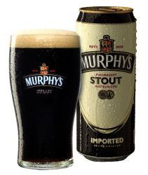 STOUT: a dark beer made using roasted malt or barley, hops, water and yeast.