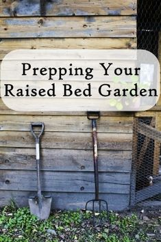 It's never too early to prepare- Steps for preparing your raised beds before you plant.