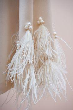 #handmade #embroidery. #couture #hautecouture #kids #dress #luxury #exclusive #limited #highfashion #fashion #Bibiona #milky #ostrichfeathers