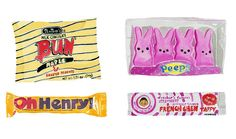 Bun, oh henry, peeps & french chew taffy by Laura Manfre