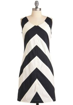 Adorable dress, but more than I would pay. I feel like I could put together something similar, maybe even using the chevron pattern to work in some darts.
