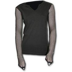 GOTHIC ROCK - Mesh Side Sleeve Top Black