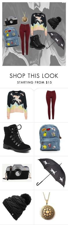 """""""Outfit for character"""" by marvel-lover ❤ liked on Polyvore featuring Wildfox, AG Adriano Goldschmied, G.H. Bass & Co. and The North Face"""