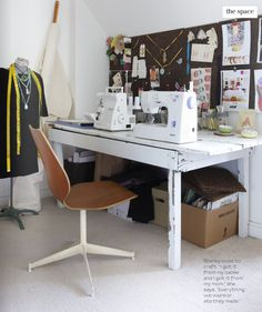 sewing table via covet garden. One of my goals for my new apartment is a bigger sewing table!