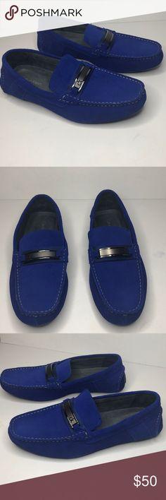 f71727a9712 NWOT Men s Calvin Klein Royal Blue Size New without tag. Men s suede dress  loafer. Royal blue Men s size Calvin Klein Shoes Loafers   Slip-Ons
