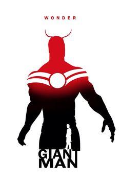Superhero Silhouette: Giant Man, by Steve Garcia (Marvel Comics) Comic Movies, Comic Book Characters, Marvel Characters, Comic Character, Comic Books Art, Comic Art, Marvel Comic Universe, Marvel Dc Comics, Marvel Heroes