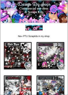 """Ad:New Scrapkits """"Goth Rave"""", """"Sexy General"""", & $1.00 Thursday Madness Sale from Designs by Joan! http://mad.ly/a990d3"""