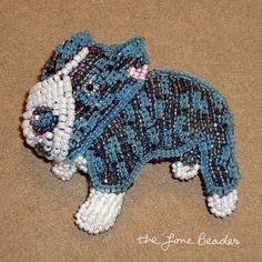 Beaded Blue-Nose Pitbull Pin/ Pendant - dog jewelry for humans (Made to Order). $95.00, via Etsy.