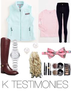The ultimate southern prep by K TESTIMONIES #southern #preppy #pearlsncurls