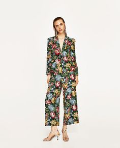 ZARA - WOMAN - FLORAL PRINT JACKET WITH FRILLED SLEEVES