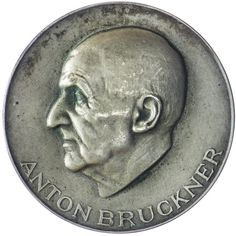 AE Medaille 1946 Anton Bruckner, 2. Republik 1945 - heute, Med.: Alfred Hofmann; Anton Bruckner zu seinem 50. Todestag. Av: Kopf links. Rv: Orgel der Stiftskirche St. Florian.