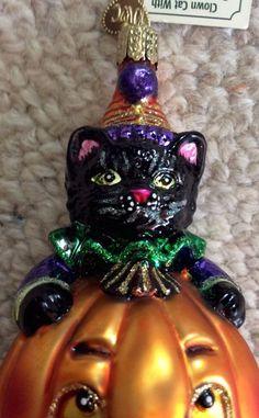 1997 Merck Old World Christmas – Halloween Ghost in Pumpkin Light ...