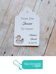 """From our shower to yours ~ Baby Duck Gift Tags ~ Baby Shower Tags ~ 20 tags ~ 2 1/2"""" from KendollMade http://www.amazon.com/dp/B01A03DGU2/ref=hnd_sw_r_pi_dp_JJSLwb1RJTDRP #handmadeatamazon"""