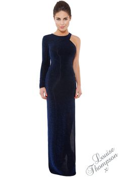Louise Thompson Collection  Single Sleeve Side Slit Maxi (Pre-Order)  £55.00