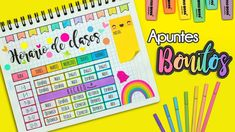 DIY: Haz tu HORARIO DE CLASES bonito #REGRESOACLASES Bullet Journal School, Bullet Journal Banner, Bullet Journal Inspo, School Timetable, Beautiful Notes, Paper Crafts Origami, School Notes, Tumblr, Study Notes