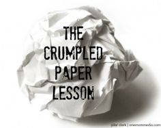 The Crumpled Paper Lesson: What it can teach your kids about bullying. Anti Bullying Lessons, Anti Bullying Week, Anti Bullying Activities, Counseling Activities, Stop Bullying, Cyber Bullying, Therapy Activities, Therapy Ideas, Anti Bullying Campaign