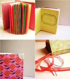 Homemade journals - someday I will be this crafty / motivated.  Really. Stop laughing.