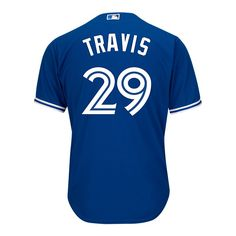 9377cc7412e Toronto Blue Jays Devon Travis Cool Base Replica Baseball Jersey