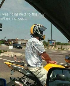 Hahaha if I ever get a scooter I'm doin this