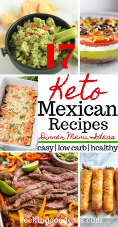 The best keto Mexican recipes perfect for an easy weeknight dinner, Taco Tuesday.The best keto Mexican recipes perfect for an easy weeknight dinner, Taco Tuesday, or even a Cinco De Mayo party! Keto Cinco De Mayo Food for the best fiesta ever! Mexican Menu, Mexican Dinner Recipes, Keto Recipes Dinner Easy, Mexican Dinner Party, Low Carb Mexican Food, Mexican Dinners, Healthy Mexican Recipes, Simple Recipes, Eating Clean