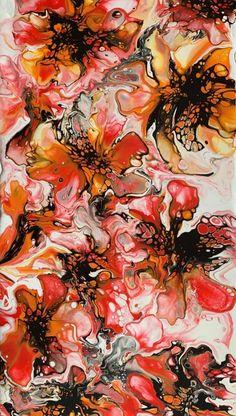 Flori Abstracte Tablou Pictura de Vanzare semnat Adela Cring Painting, Painting Art, Paintings, Painted Canvas, Drawings