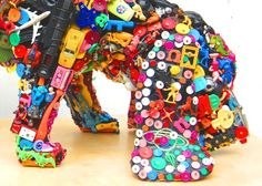 recycling toys Recycled Toys, Recycled Art, Repurposed, Dog Sculpture, Sculptures, Dog Crafts, Wooden Shapes, Yarn Bombing, Sewing Toys