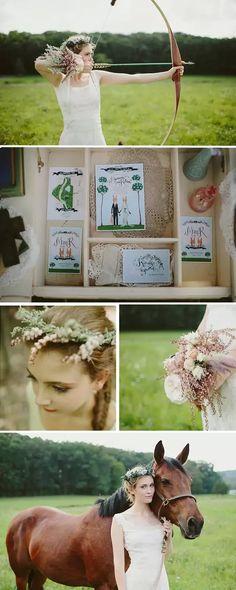 """Robin Hood""-themed wedding ideas"