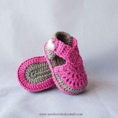 Crochet Baby Booties Crochet Baby sandals baby girl sandals baby by DaisyNeedleWo...