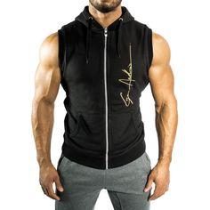 f2483138125 Gym Clothes for Men   Gym Shark Hoodie Singlets Sweatshirts Mens Tank Tops  Stringer Bodybuilding Fitness Mens GYM Tank Tees Shirts Sports Vest