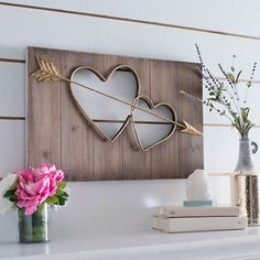 Our Two Hearts Cutout Wall Plaque is a beautiful piece that will accent any room. With hearts and gold, you'll love the way it brings your decor to life. Fall Crafts, Diy And Crafts, Wall Nook, Heart Wall Art, Heart With Arrow, All Wall, Seasonal Decor, Fall Decorations, Wall Plaques