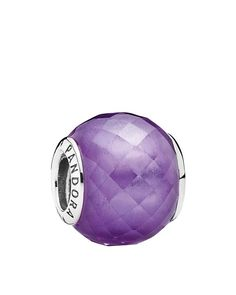 The PANDORA Purple CZ Petite Facets Charm is a pretty faceted charm that will add a pop of color to your look! It has a sterling silver core gives the appearance of a PANDORA murano, but is smaller in size. Pandora Purple Charms, Pandora Charms, Pandora Rings Rose, Pandora Beads, Pandora Bracelets, Pandora Jewelry, Silver Charms, Charm Jewelry, Charm Bead